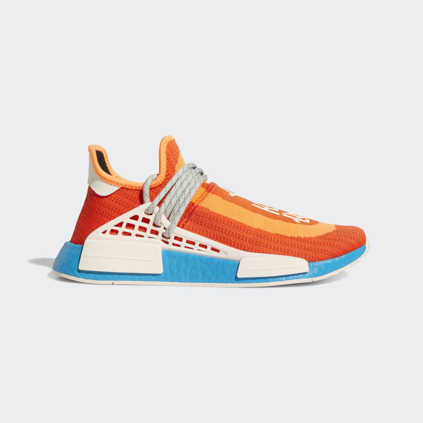 Pharrell Williams x adidas Originals NMD HU 'Bold Orange' - Extra Eye Pack}