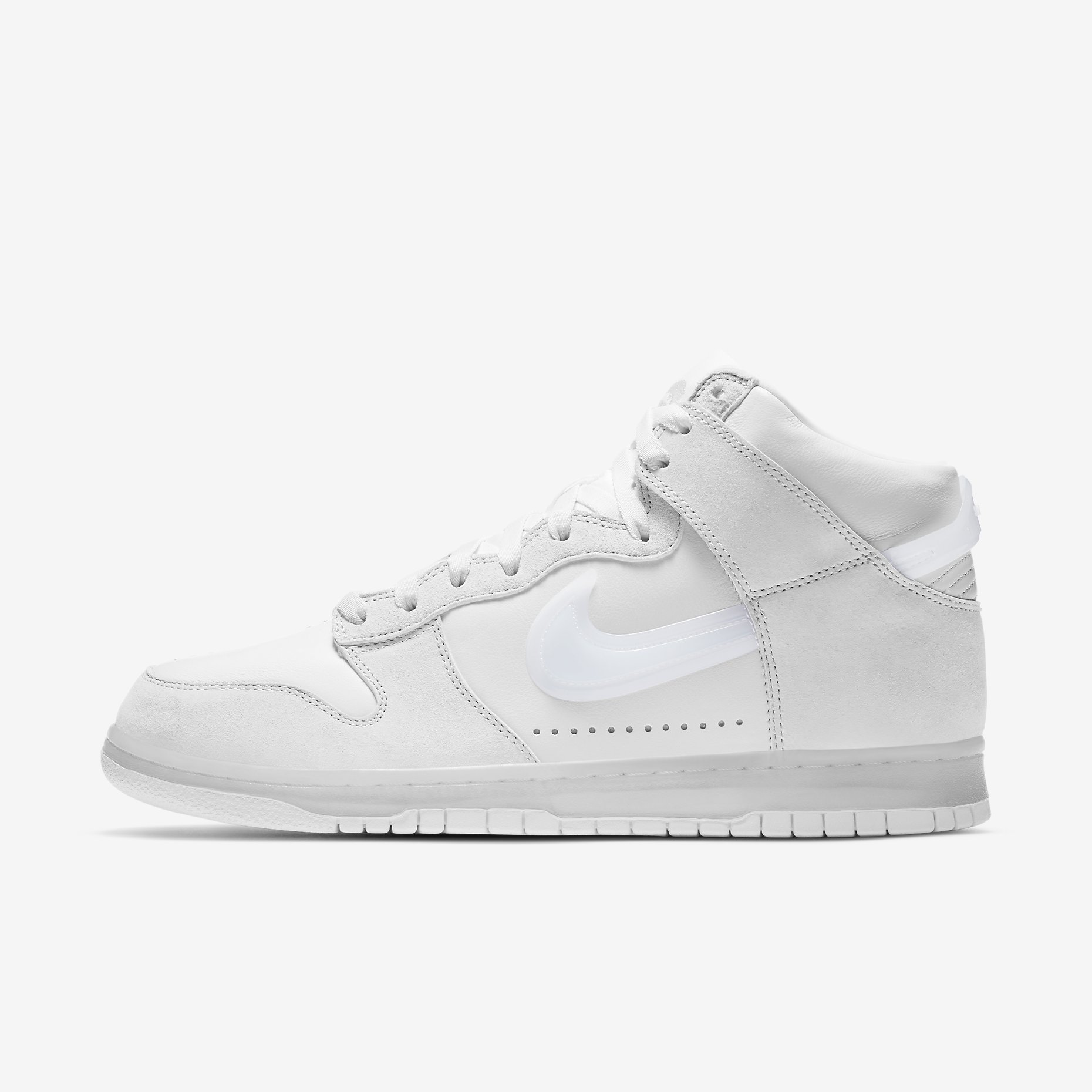 Slam Jam x Nike Dunk High 'Clear White'}