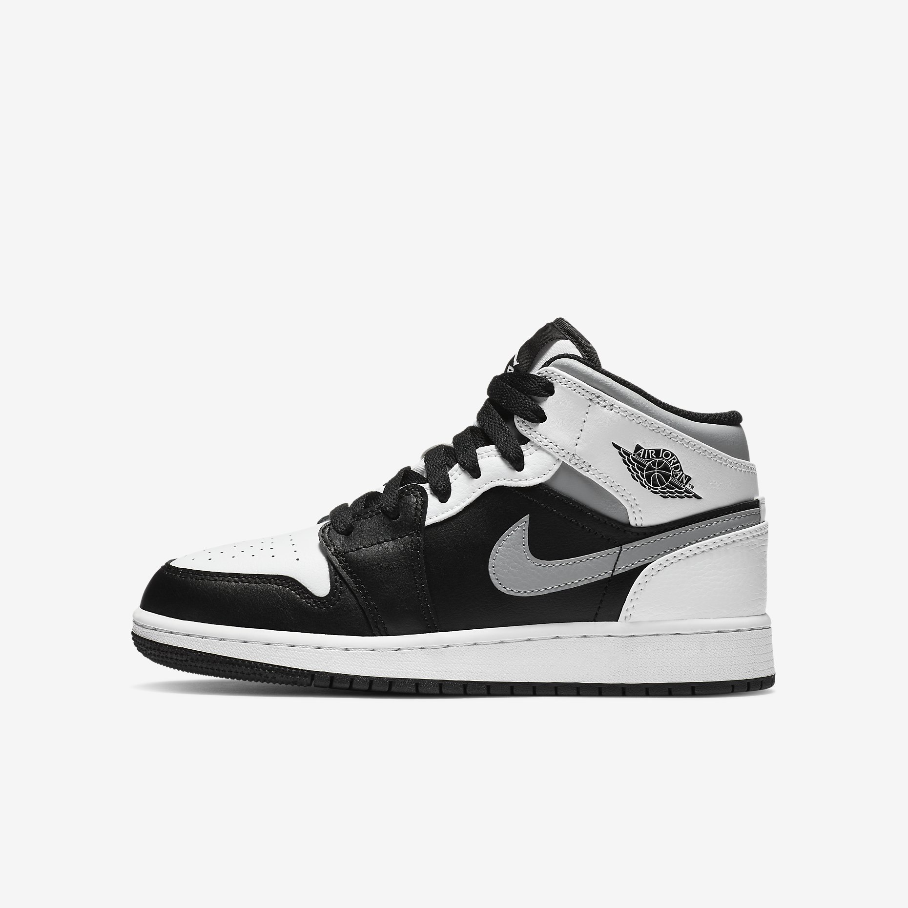 Air Jordan 1 Mid GS 'White Shadow'}