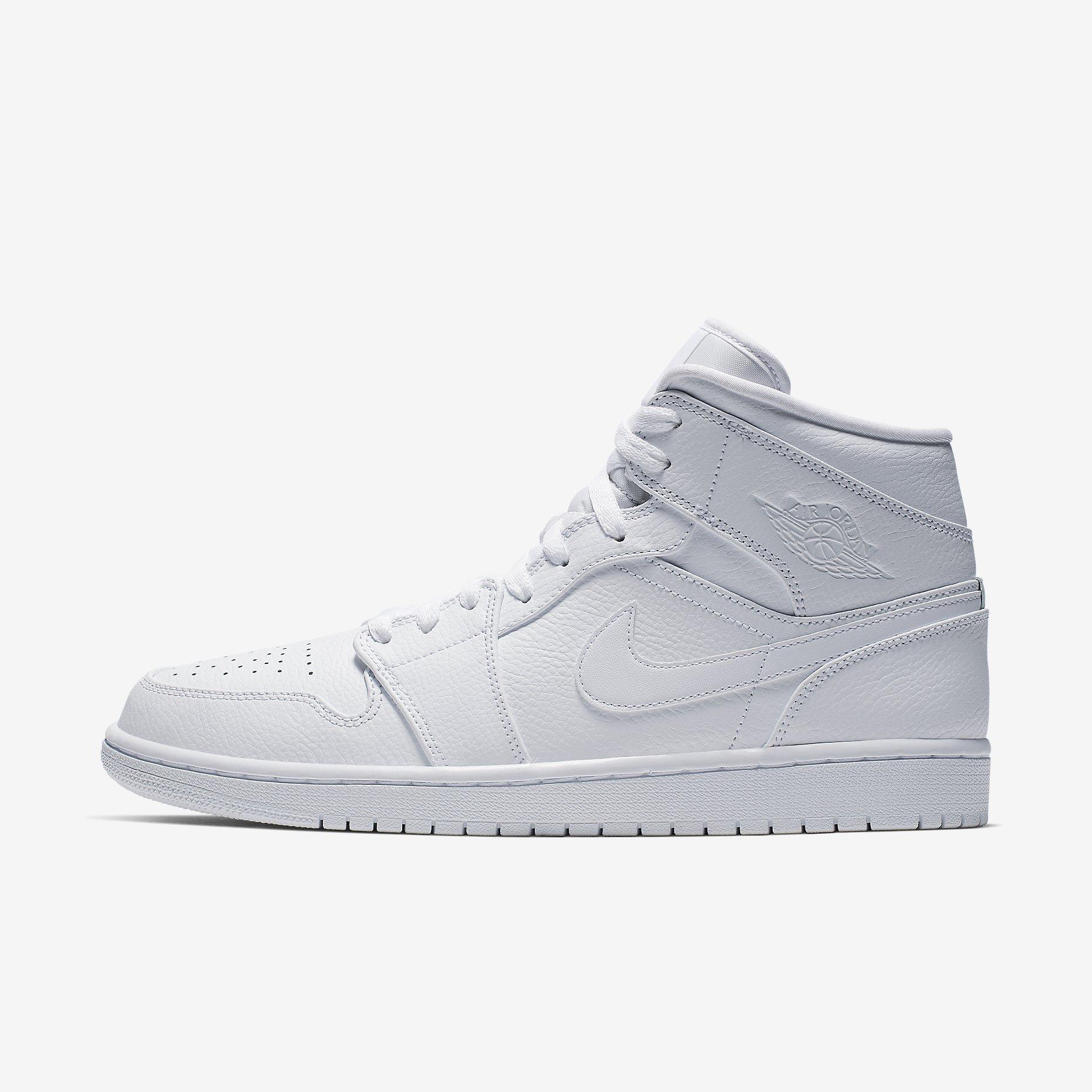 Air Jordan 1 Mid 'Triple White' 2.0 (2020)