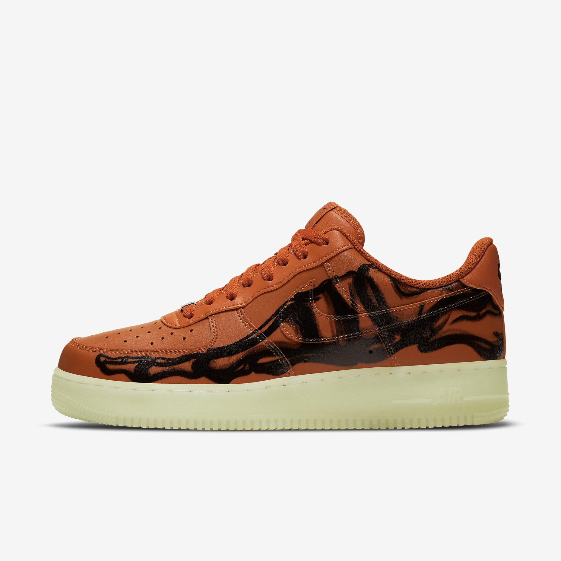 Nike Air Force 1 '07 Skeleton QS 'Orange'}