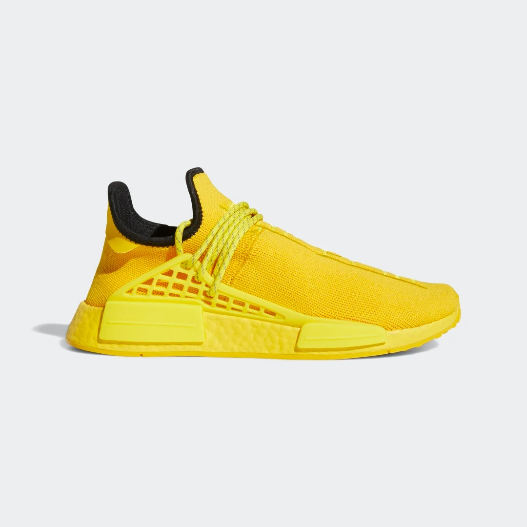 Pharrell Williams x adidas Originals NMD HU 'Bold Gold' }