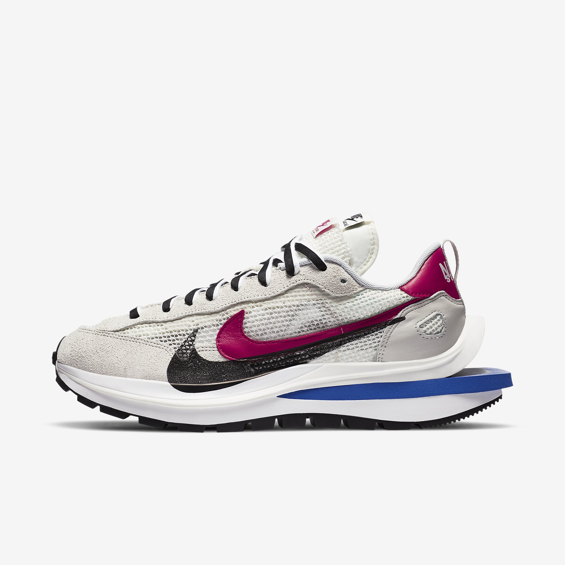 Nike x Sacai VaporWaffle 'Royal Fuchsia'}