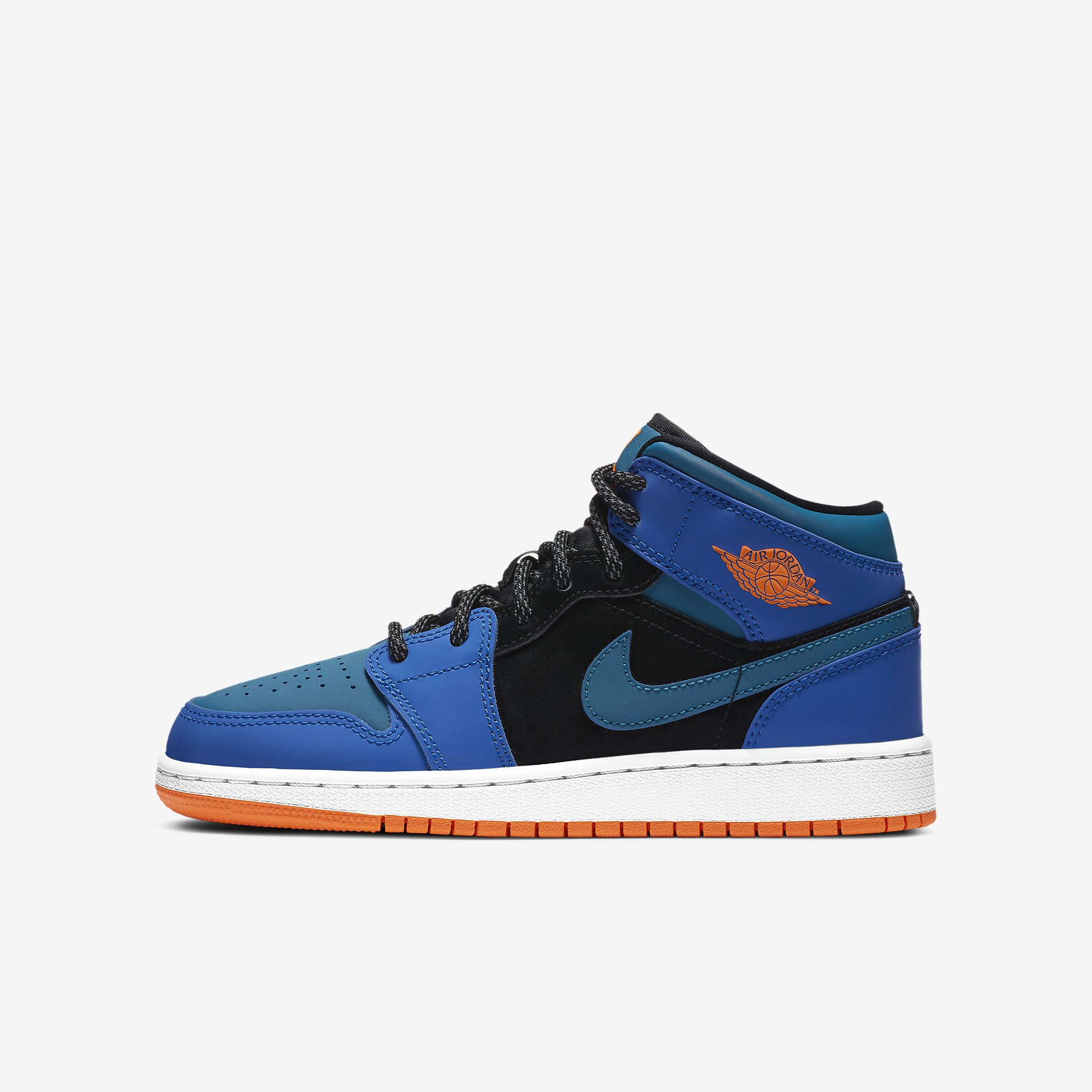 Air Jordan 1 Mid GS 'Racer Blue'}