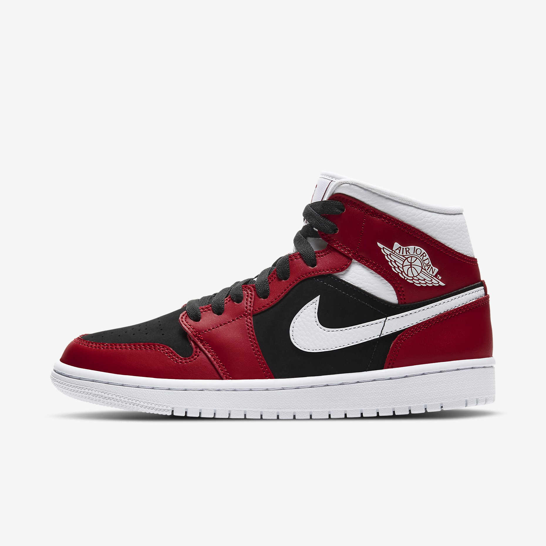 Wmns Air Jordan 1 Mid 'Gym Red/Black/White'}