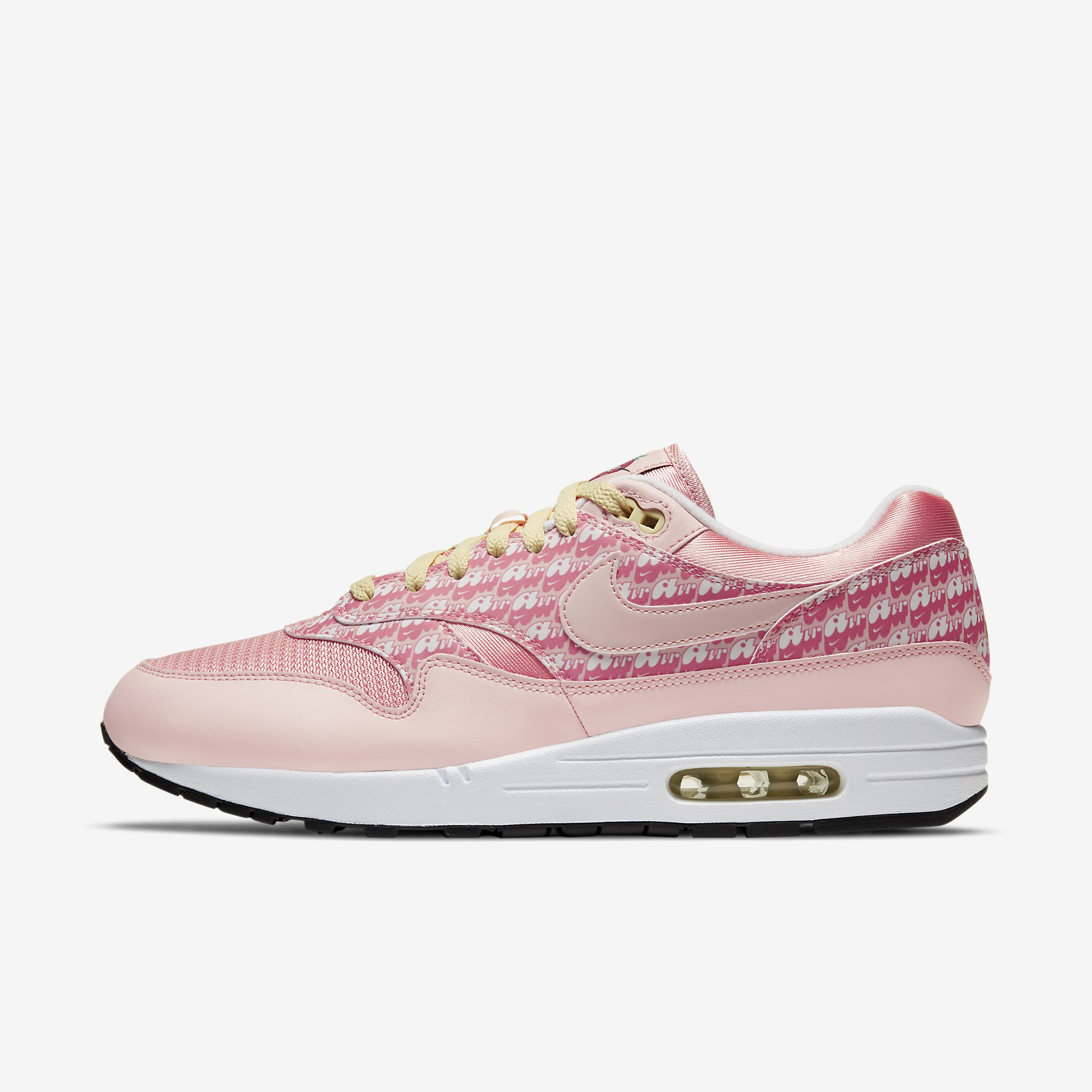 Nike Air Max 1 Premium QS Powerwall 'Strawberry Lemonade'}