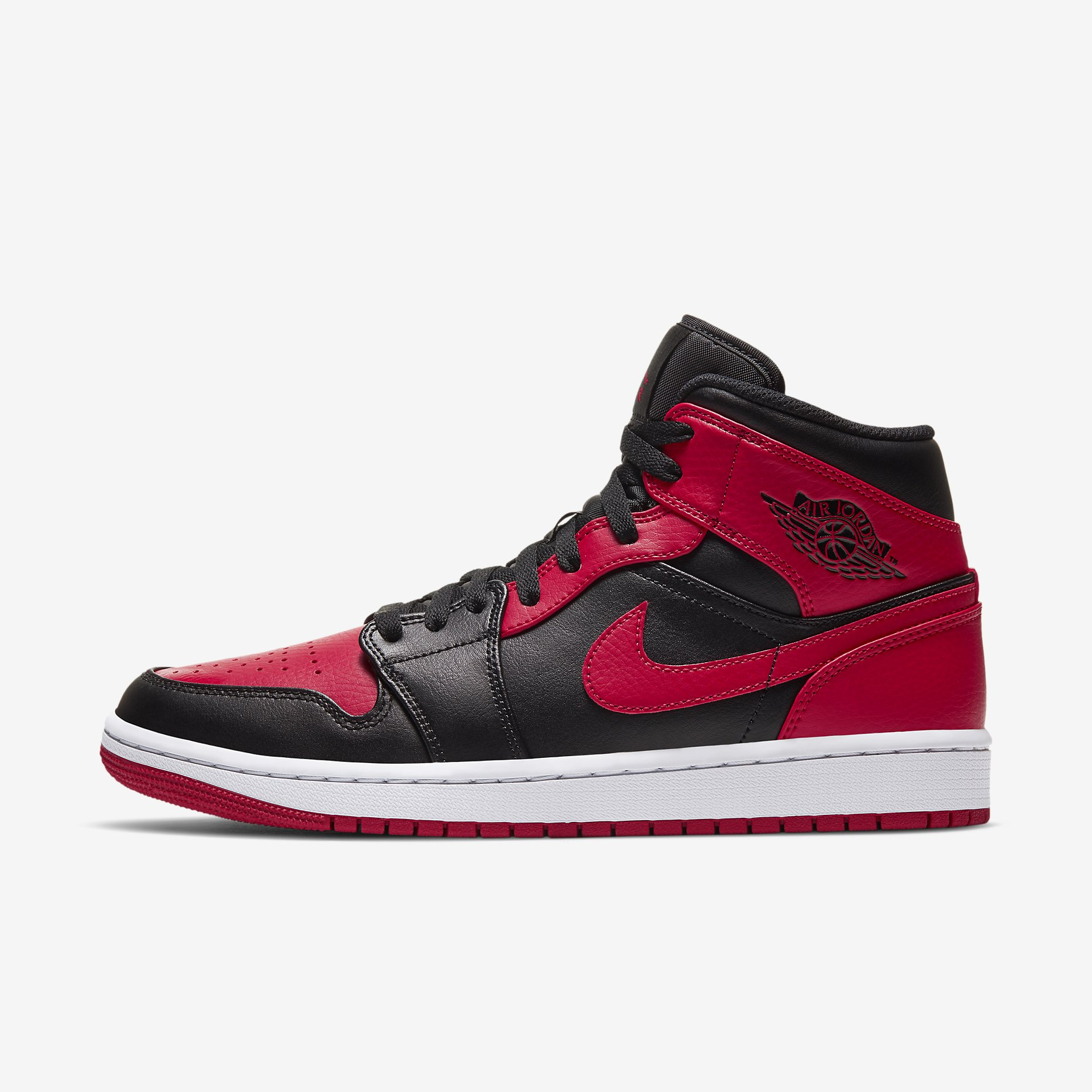 Air Jordan 1 Mid 'Bred' 2020}