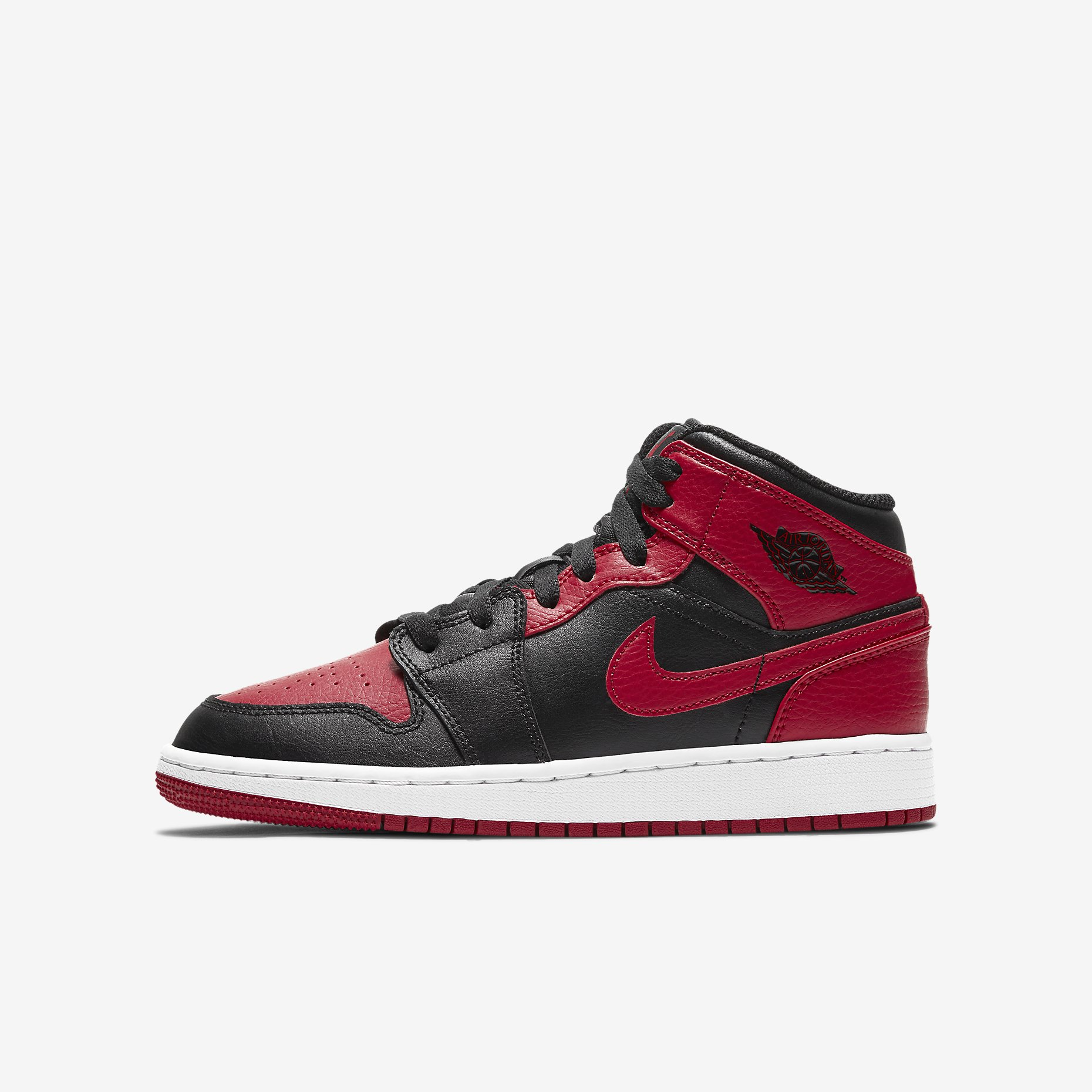 Air Jordan 1 Mid GS 'Bred' 2020}