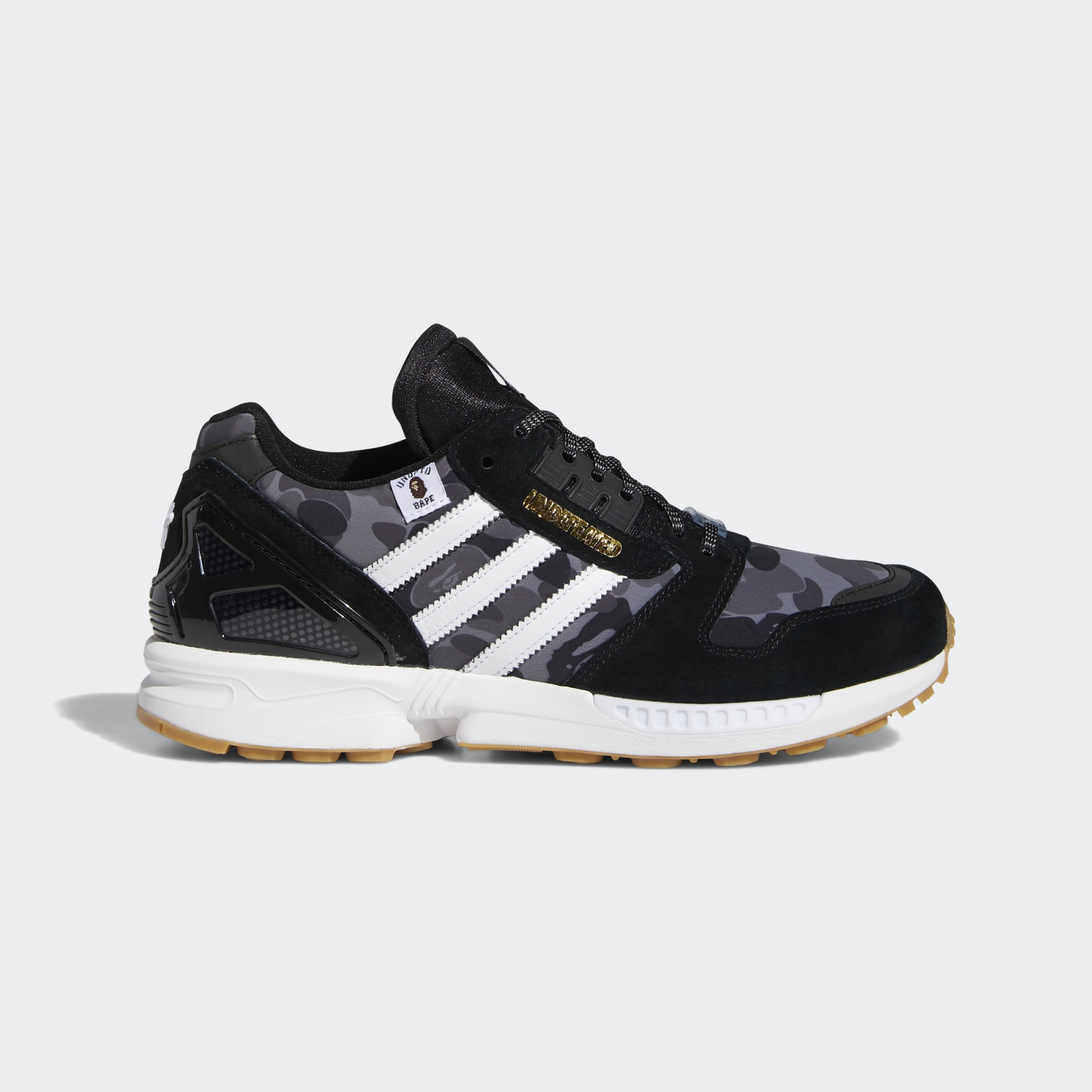 adidas Originals ZX 8000 x Bape x Undefeated 'Core Black'}
