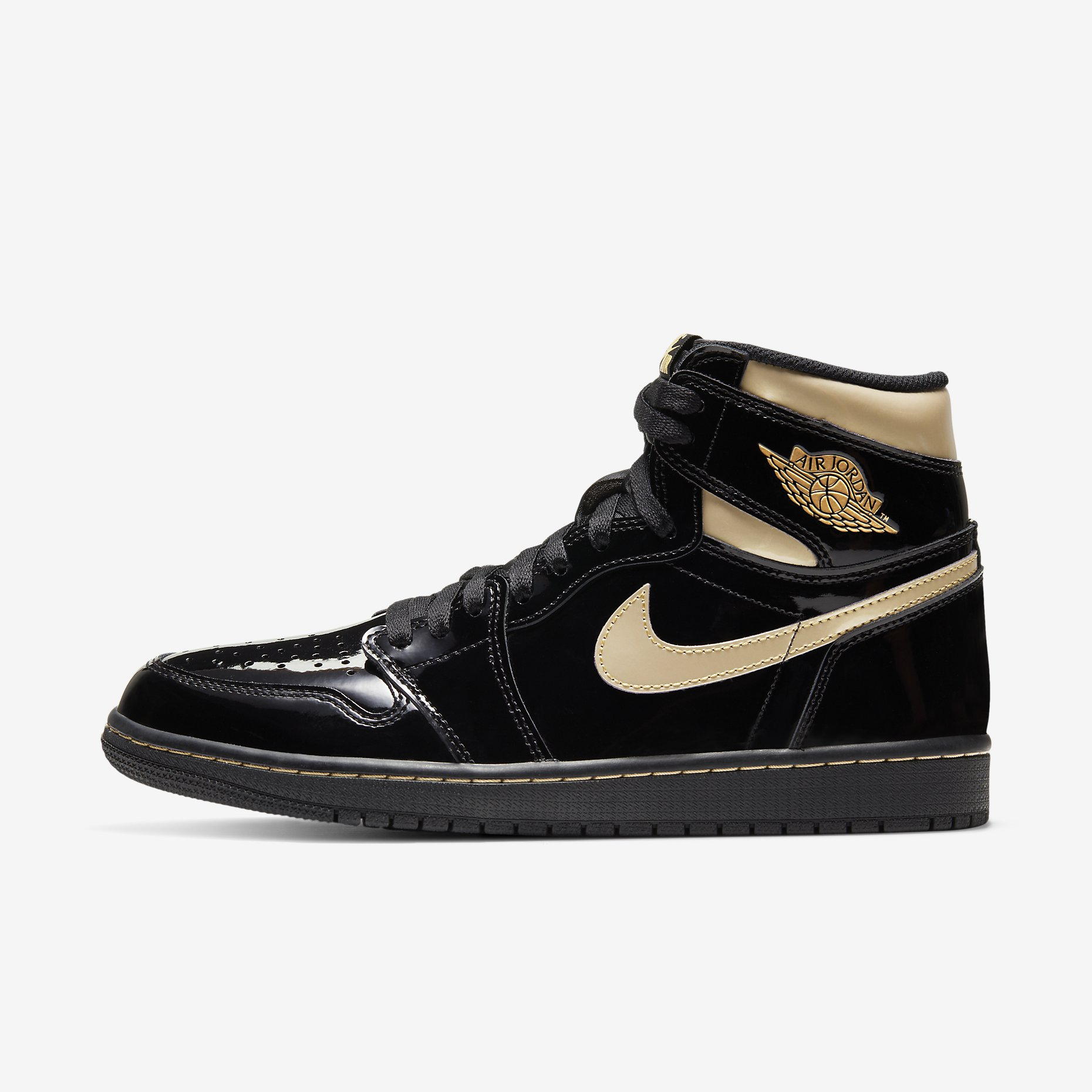 Air Jordan 1 Retro High OG 'Black Gold'}