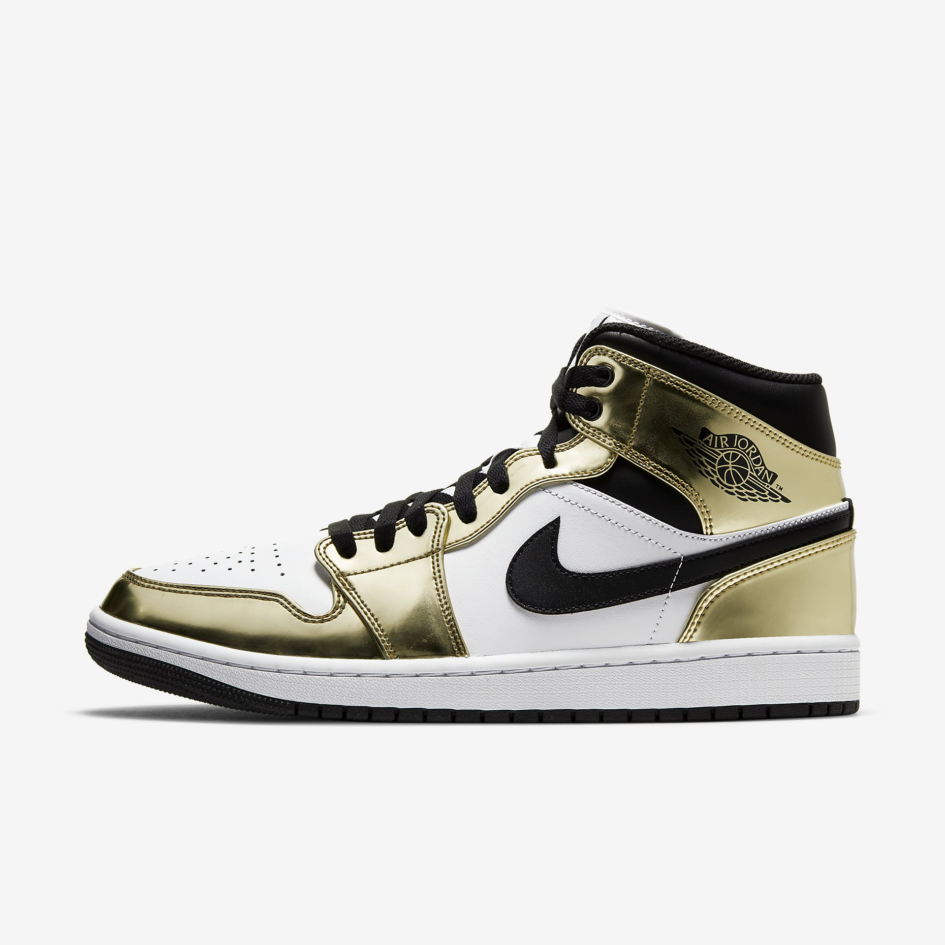 Air Jordan 1 Mid SE 'Metallic Gold'}
