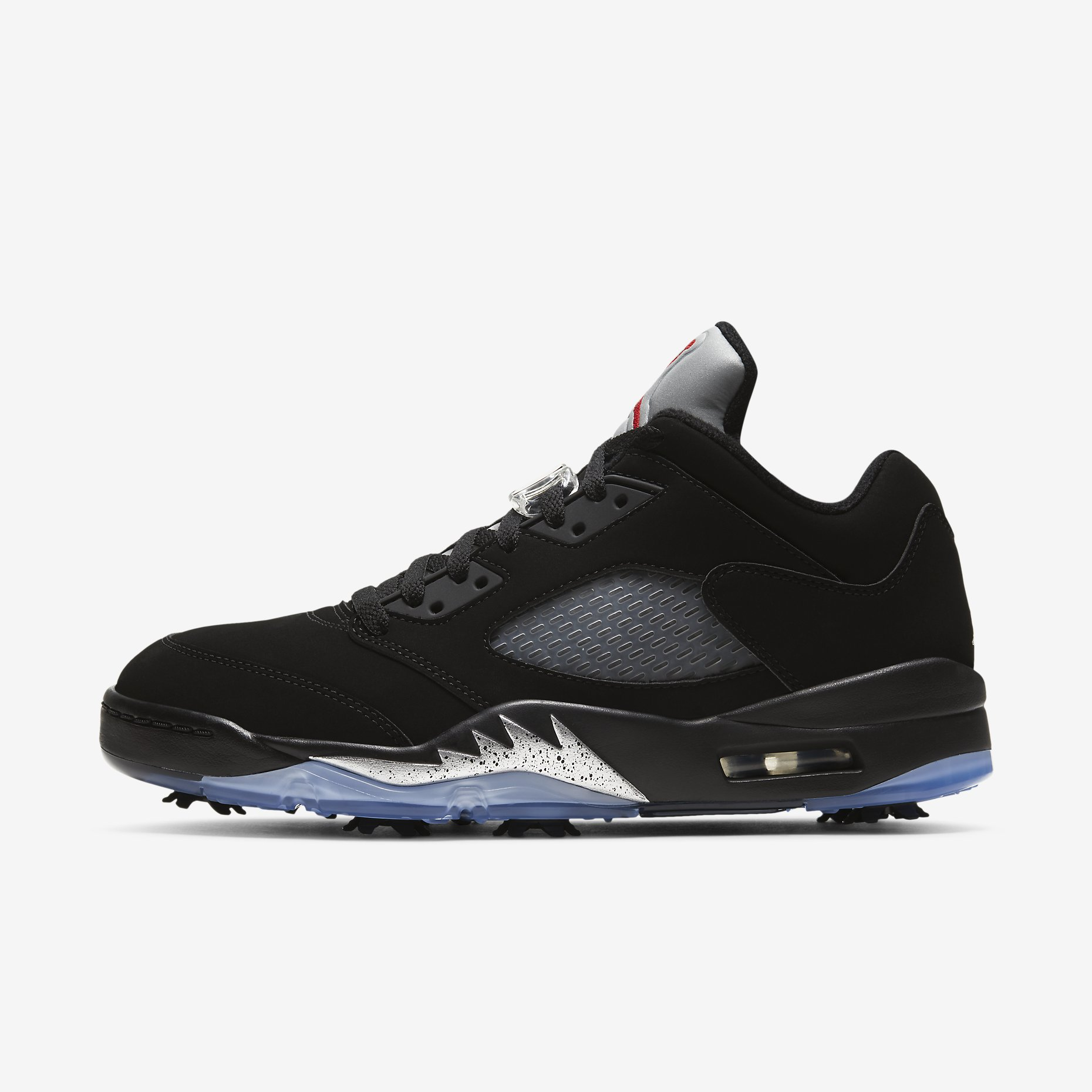 Golf's Air Jordan 5 Low 'Black/Metallic Silver'}