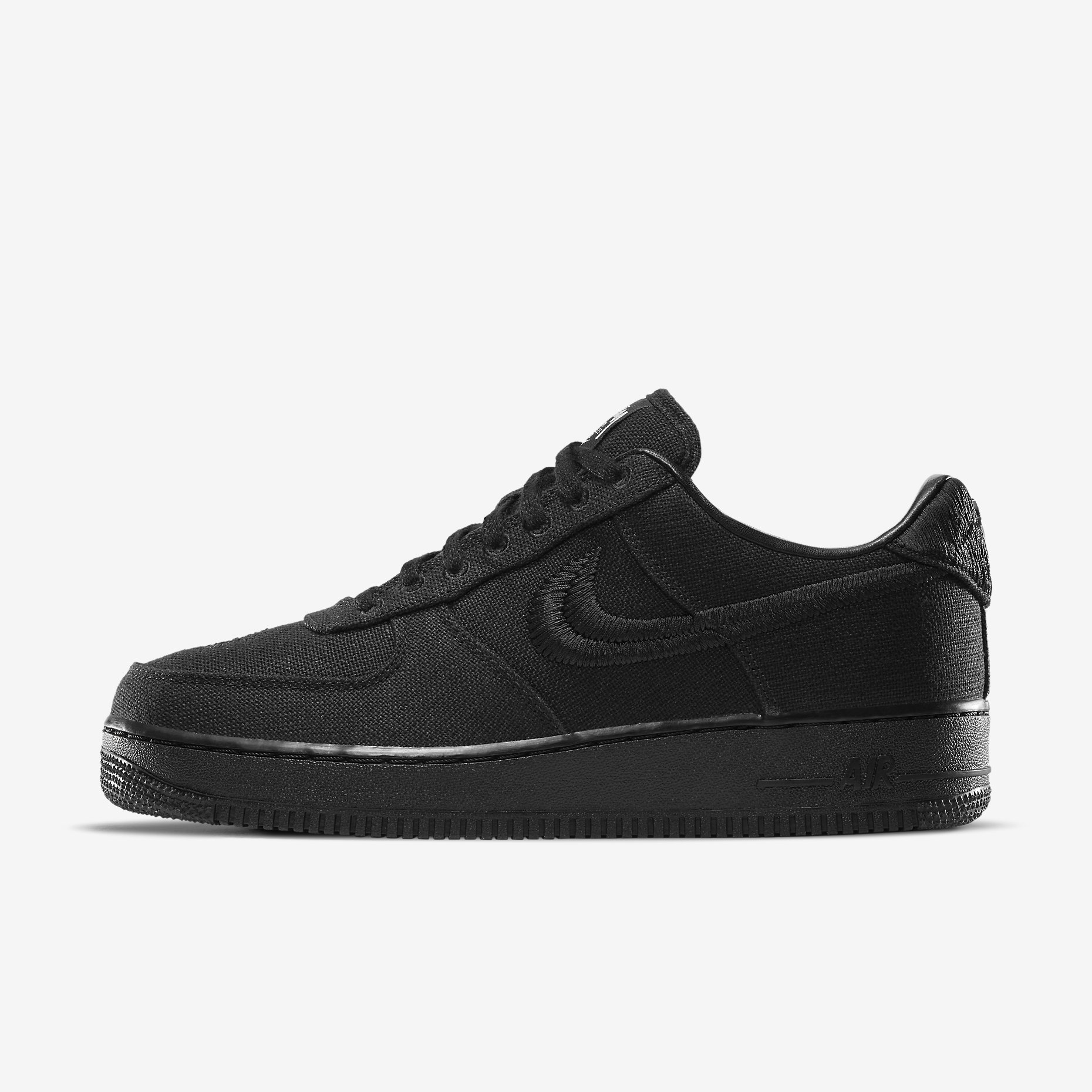 Stussy x Nike Air Force 1 Low 'Triple Black'}